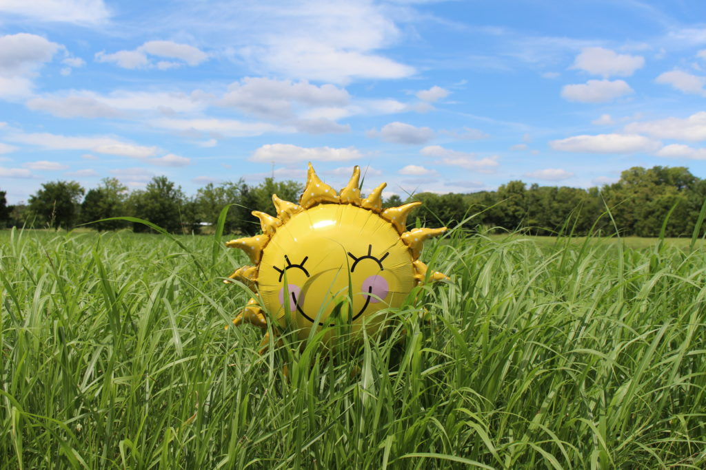 happy sun balloon