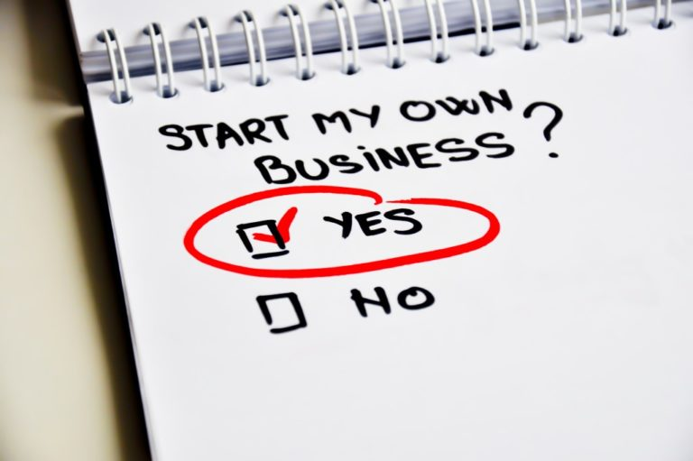 yes or no checkbox if one should start their own business
