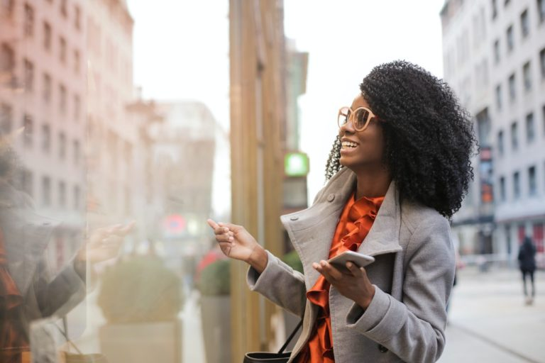 woman at the city